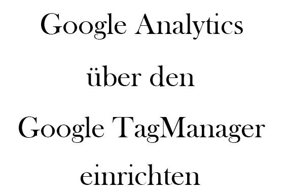Analytics Tagmanager Titel
