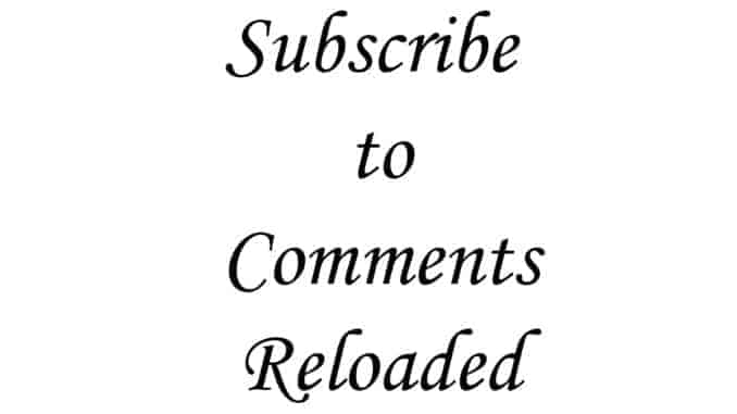 Schriftzug subscribte to Comments Reloaded